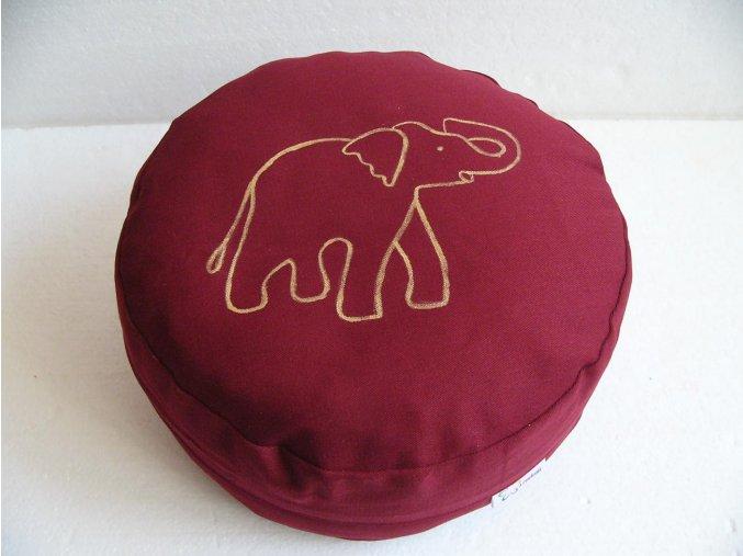 Pohankový sedák motiv slon