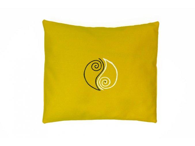 Welness polštář jin jang žlutý