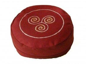 Meditační sedák trojspirála vínový