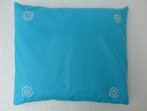 Pohankový polštář na spaní tyrkysový se spirálama