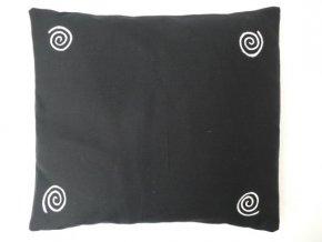 Pohankový polštář na spaní černý se spirálama