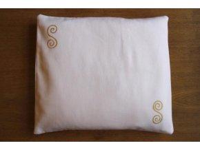 Pohankový polštářek na spaní bílý - spirály