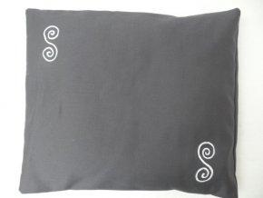 Pohankový polštářek na spaní šedý - spirály