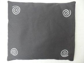 Pohankový polštář na spaní šedý se spirálama