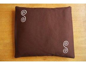 Pohankový polštářek na spaní hnědý - spirály
