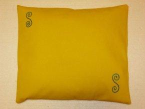 Pohankový polštářek na spaní žlutý - spirály