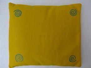 Pohankový polštář na spaní žlutý se spirálama