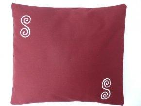 Pohankový polštářek na spaní vínový - spirály