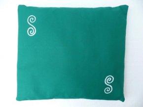Pohankový polštářek na spaní zelený - spirály