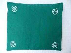 Pohankový polštář na spaní zelený se spirálama
