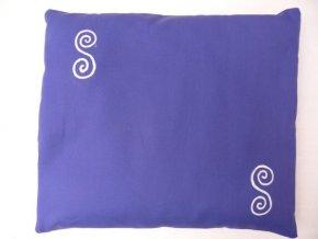 Pohankový polštář na spaní modrý - spirály