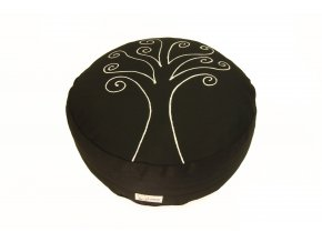 Meditacni pohankovy sedak polstar strom zivota cerny