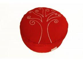 Meditacni pohankovy sedak polstar strom zivota cerveny