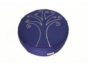 Meditacni pohankovy sedak polstar strom zivota modry