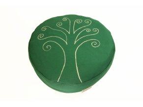 Meditacni pohankovy sedak polstar strom zivota zeleny