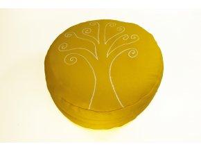 Meditacni pohankovy sedak polstar strom zivota zluty