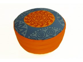 Meditacni pohankovy polstar sedak zafu s mandalou