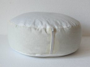 Vnitřek meditačního sedáku, zafu, pufu, taburetky