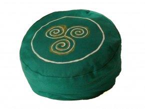Meditační sedák trojspirála zelený