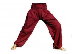 Meditacni kalhoty vinove
