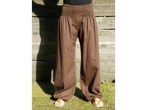 Volnočasové kalhoty hnědé