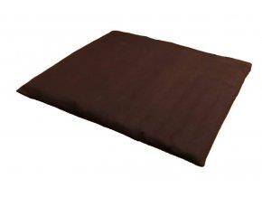Hneda podlozka futon na meditaci