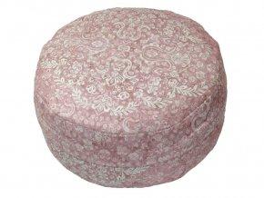 Meditacni polstar ornament ruzovy