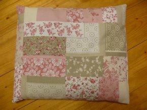 Pohankový polštář na spaní - patchwork