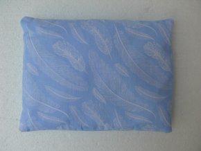 Pohankovy polstar peri bledě modry