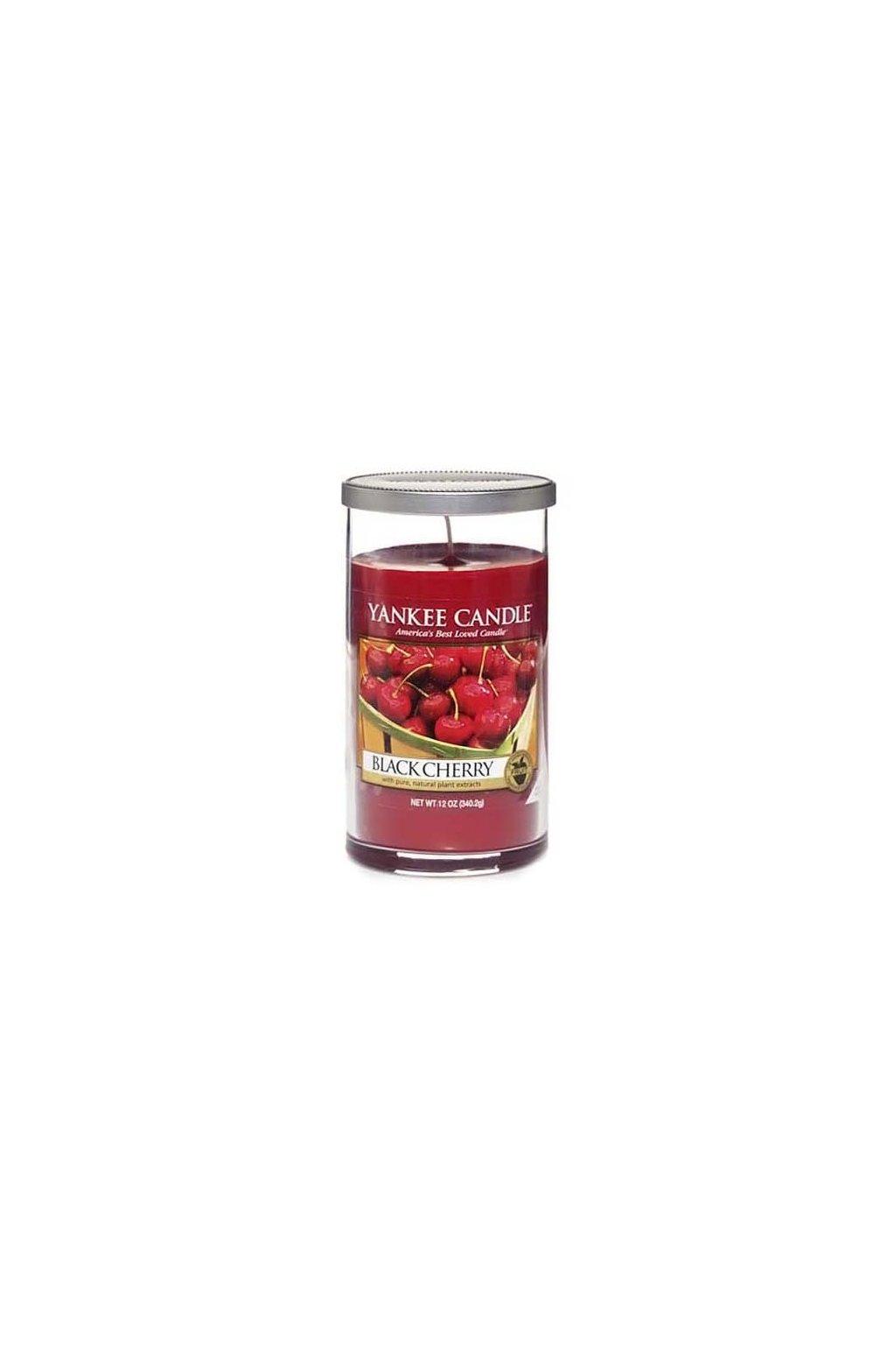 Svíčka ve skleněném válci Yankee Candle - Black Cherry