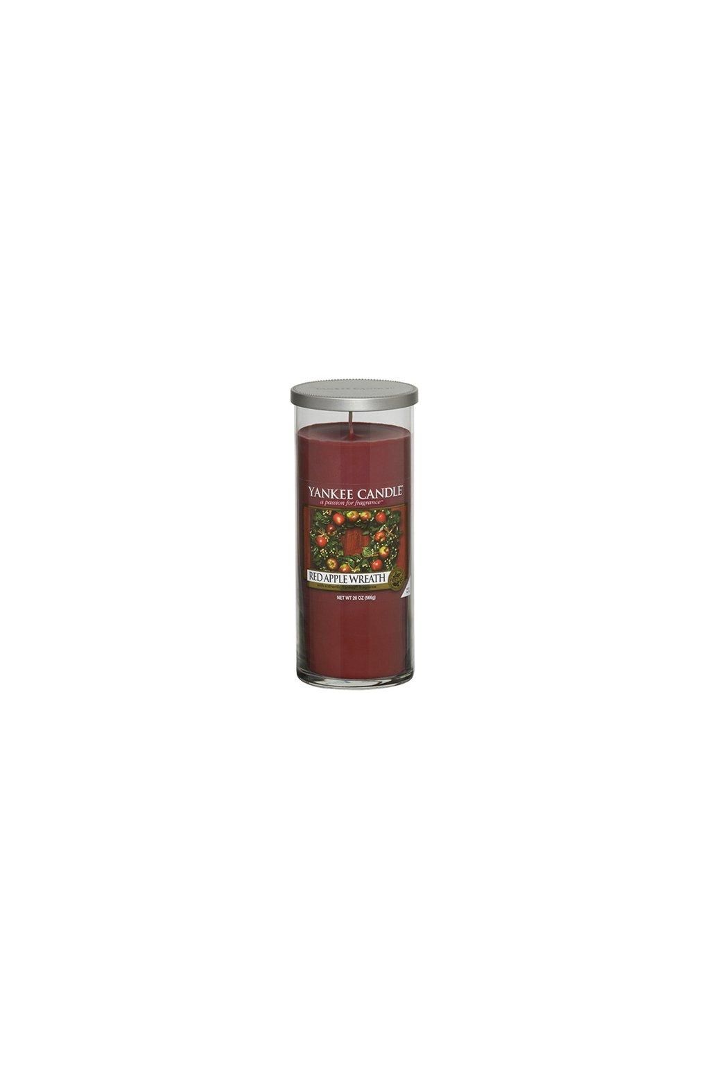 Svíčka ve skleněném válci Yankee Candle - Red Apple Wreath
