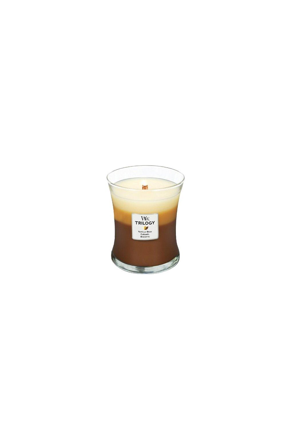 WoodWick Trilogy Café Sweets váza střední 275g