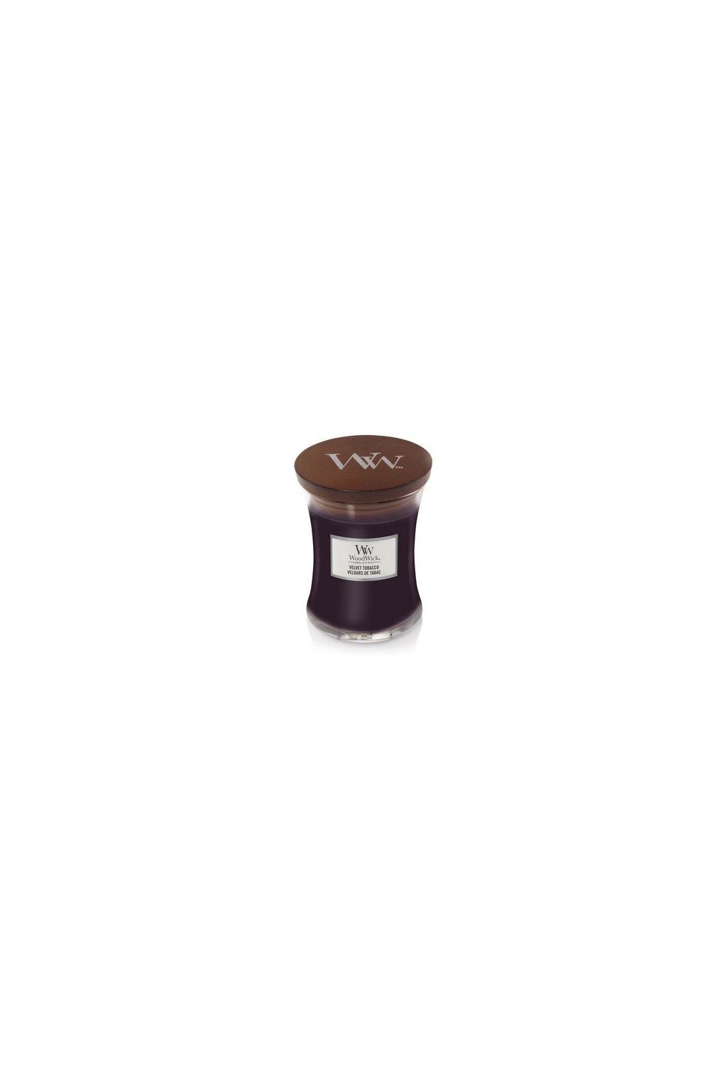 WoodWick Velvet Tobacco svíčka střední 275g