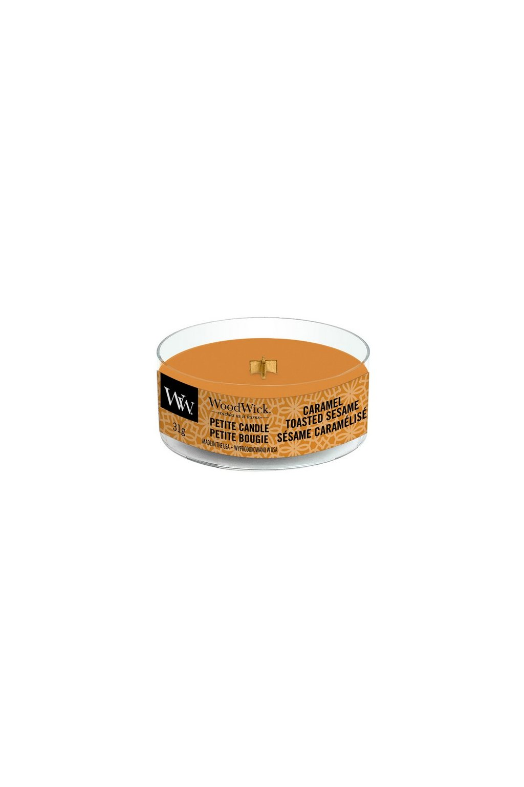 WoodWick Caramel Tosted Sesame petite