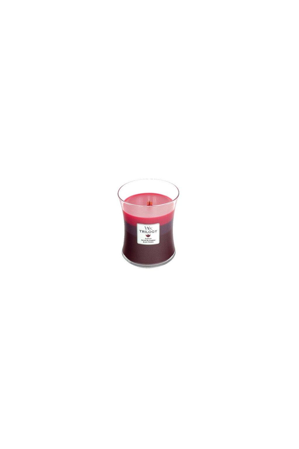 WoodWick Trilogy Sun Ripened Berries váza střední 275g