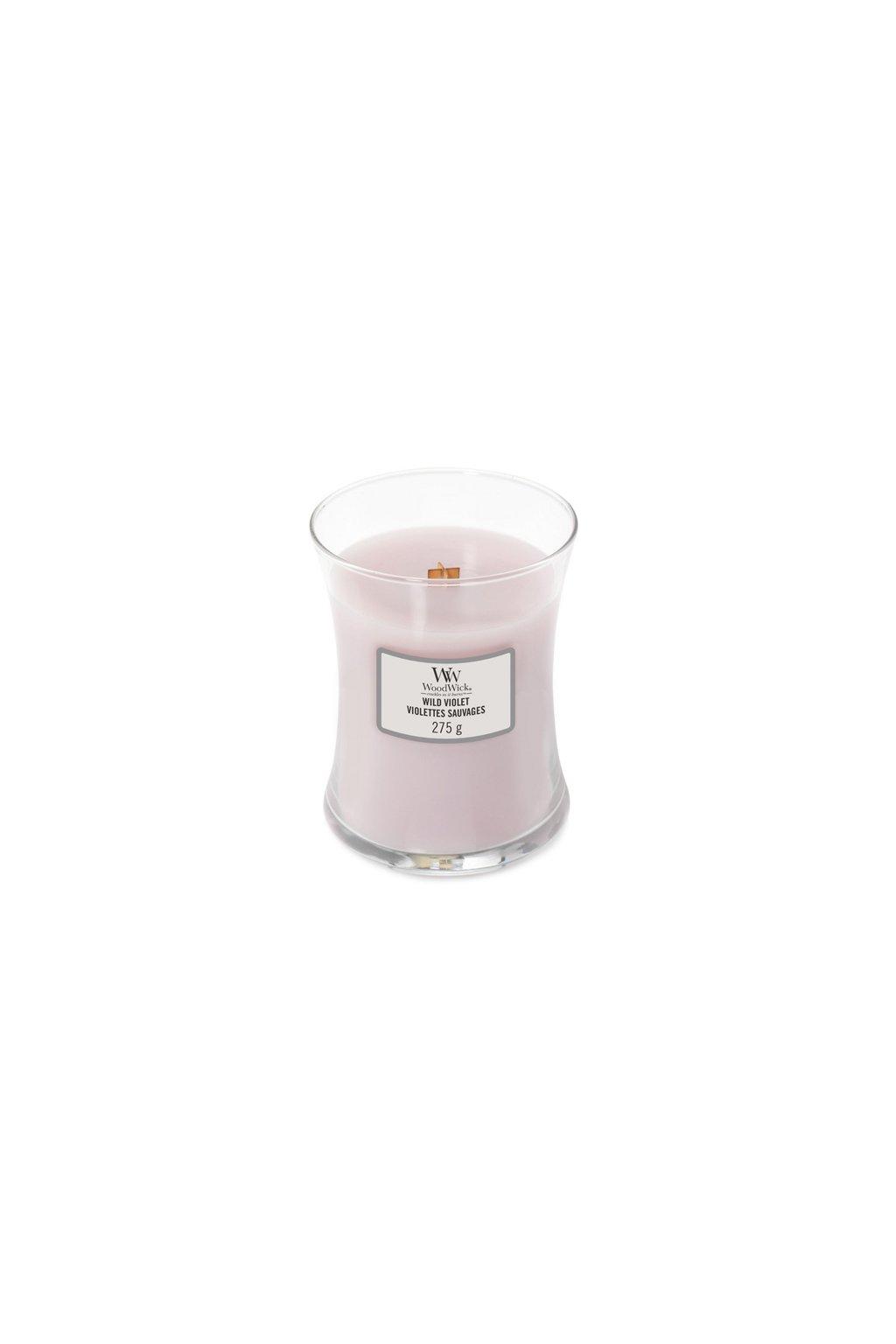 WoodWick Wild Violet svíčka střední 275g