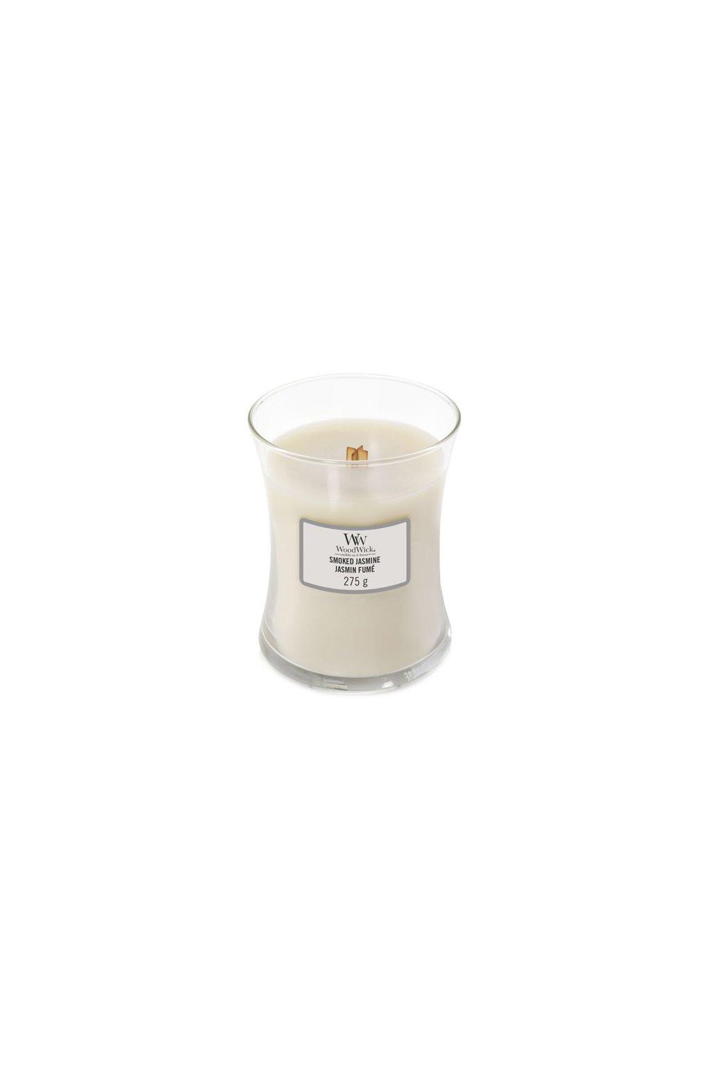 WoodWick Smoked Jasmine svíčka střední 275g