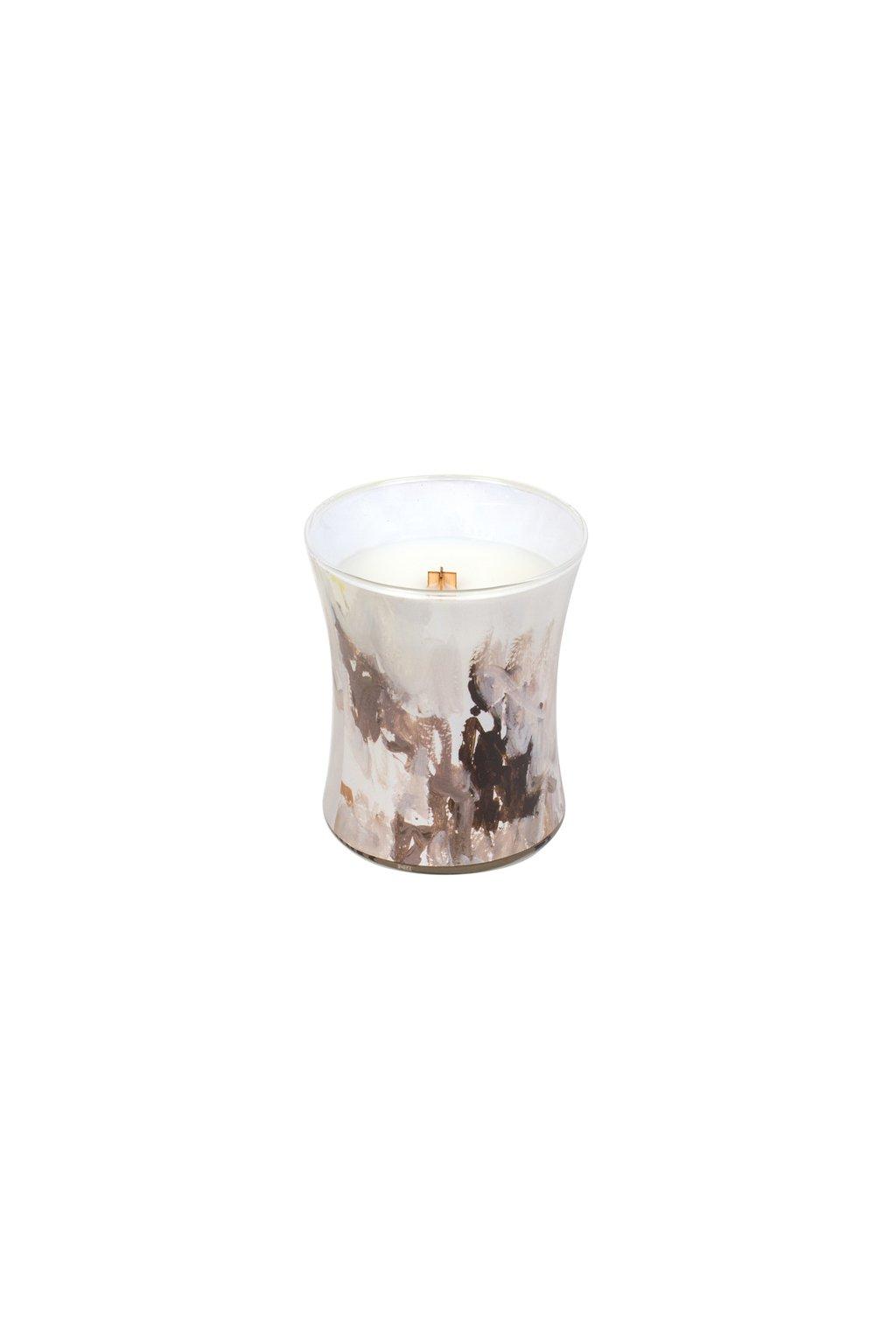 WoodWick Medový Tabák Decor svíčka střední 275g