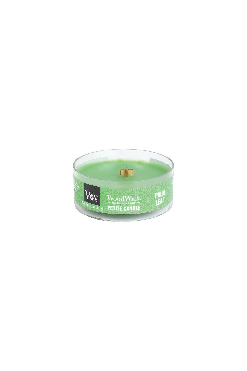 Woodwick Palm leaf svíčka petite