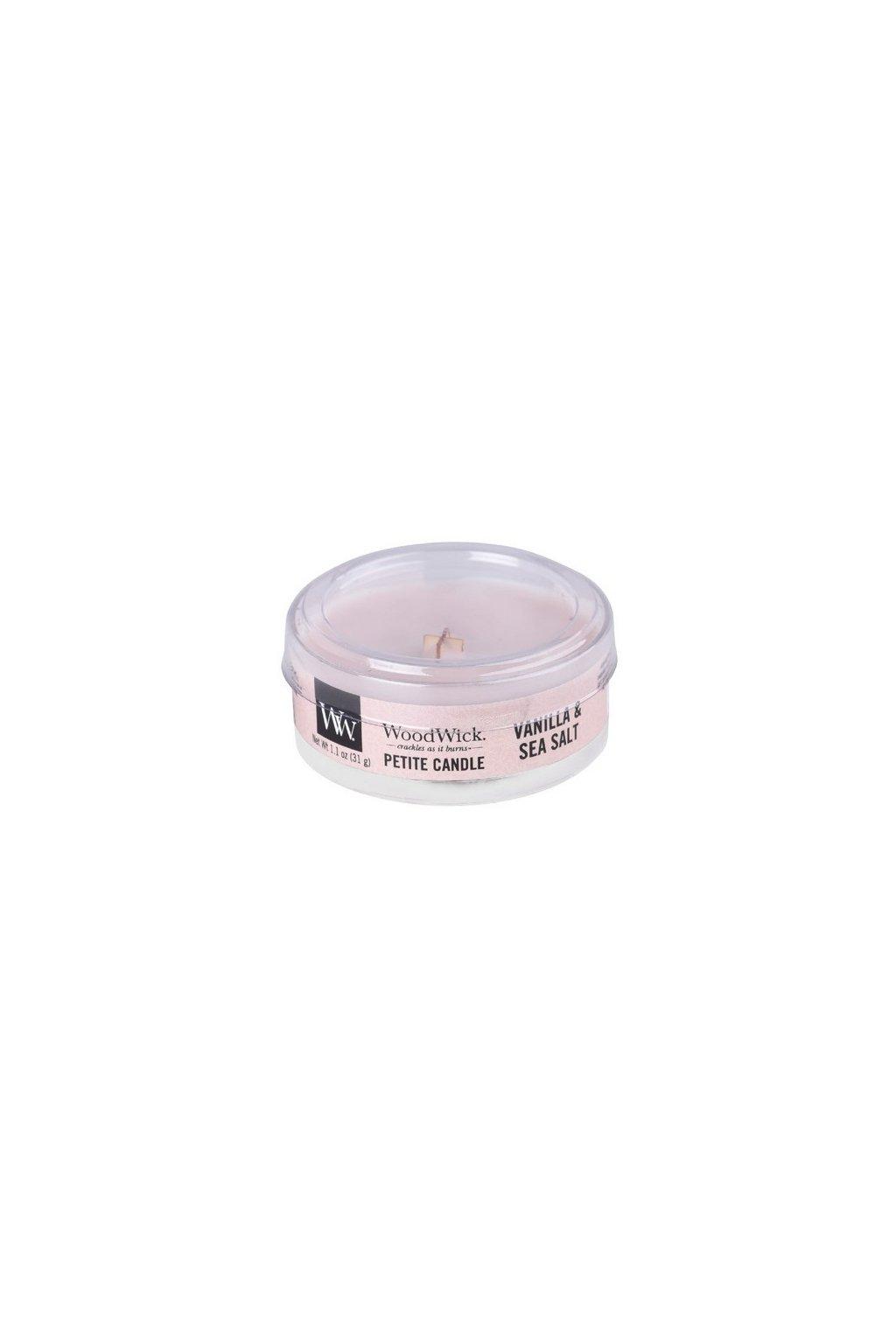 Woodwick Sea Salt & Vanilla svíčka petite