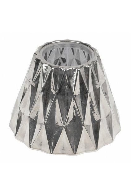 WoodWick Stínítko na svíčku stříbrné