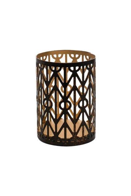 Woodwick Gemometric svícen na svíčku petite
