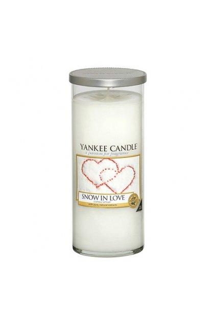 Svíčka ve skleněném válci Yankee Candle - Snow in Love 538g