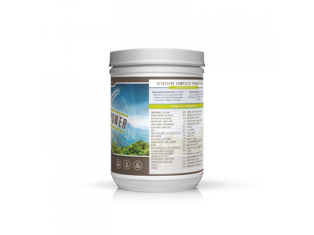 vitalvibe complete power bio vanilkovy 465 g
