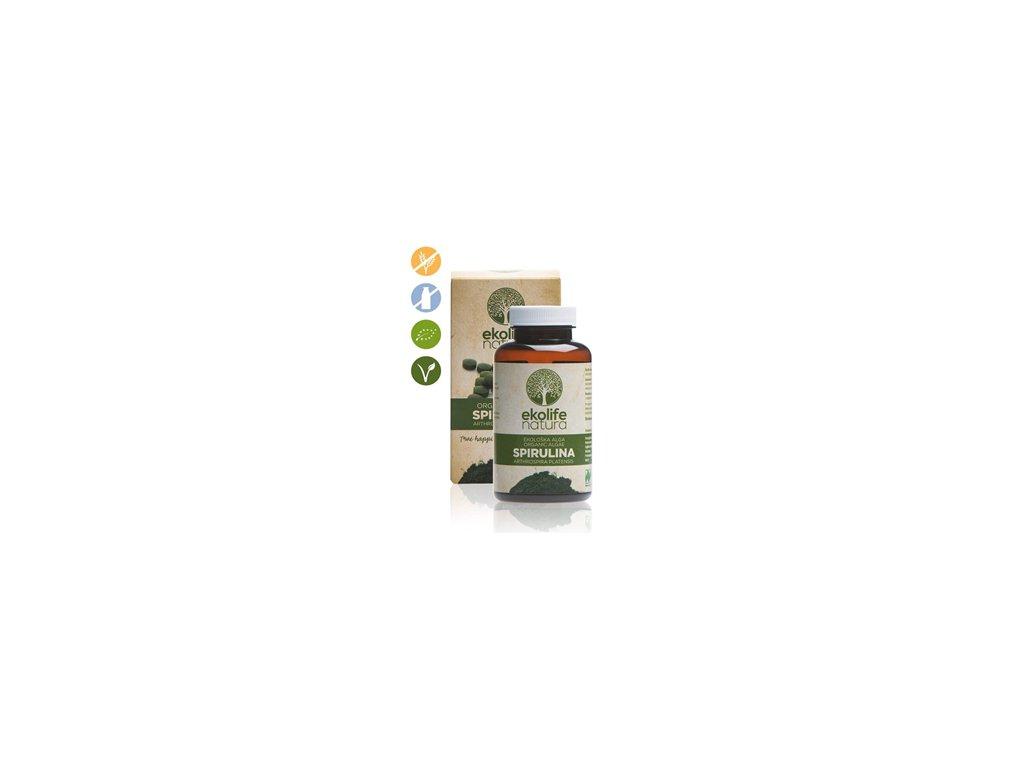 organicalgaespirulina240cps ekolife natura