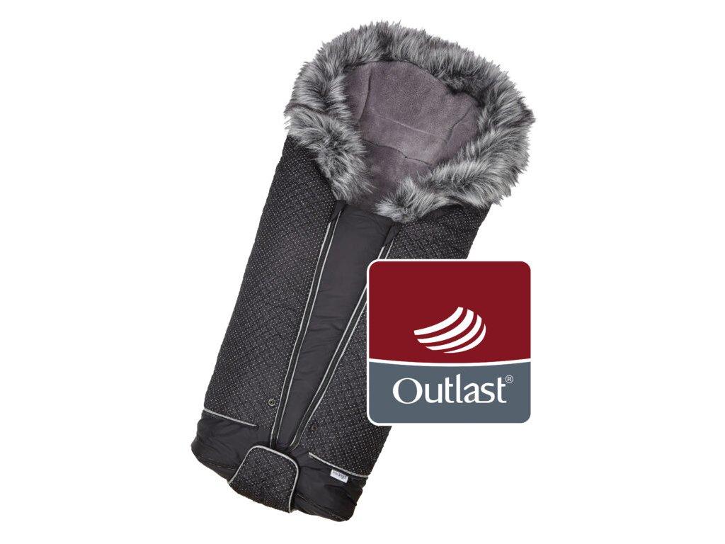 fusak DeLuxe Outlast 2020 černá/stříbrný prošev/šedá