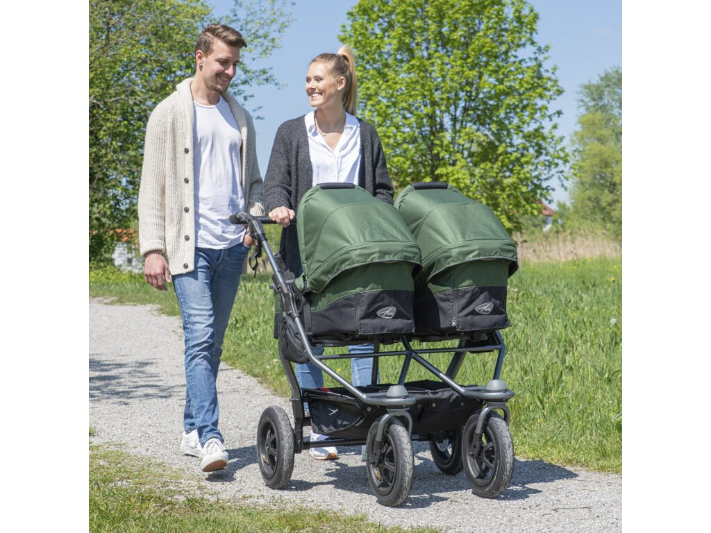 TFK Duo combi pushchair - air wheel brown 2021