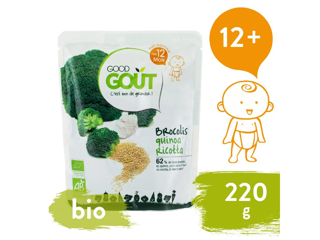 Good Gout BIO Quinoa s brokolicí a ricottou (220 g)
