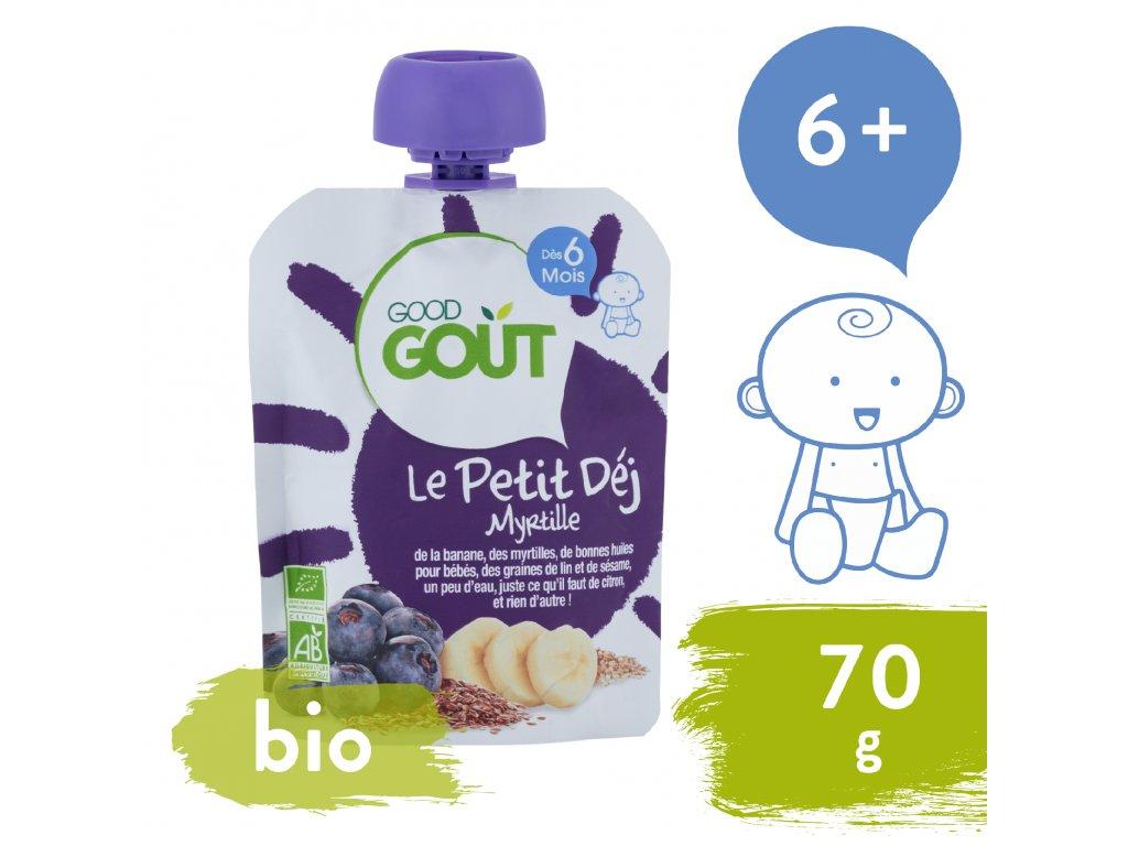 Good Gout BIO Borůvková snídaně (70 g)