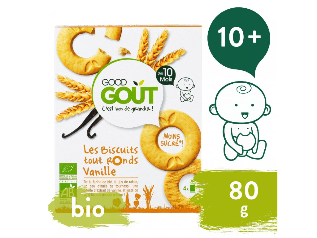 Good Gout BIO Vanilková kolečka (80 g)